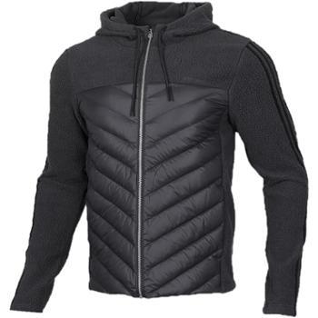 阿迪达斯 Adidas 羽绒服男冬季新款连帽保暖运动夹克外套 EI6282