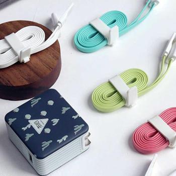 冇心数据线苹果安卓二合一 充电线 手机 USB纯色数据线 1米