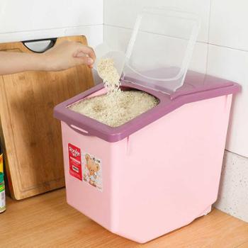 厨房收纳防潮20斤米缸米箱塑料密封防虫大米面粉装米桶储米箱10kg