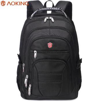 奥王双肩背包电脑包男商务休闲双肩包男大容量出差旅游旅行包书包
