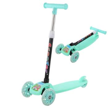 北国e家儿童滑板车玩具宽轮2-3-6-12岁男女宝宝折叠三轮溜溜车小孩单脚滑滑车
