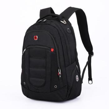 瑞士军刀双肩包男商务中学生书包15寸电脑背包大容量旅行包SA9360