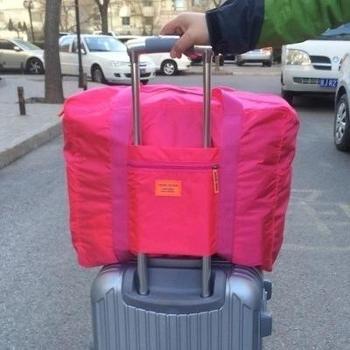 旅行收纳袋手提袋大容量折叠衣物整理包男女短途便携拉杆箱行李包