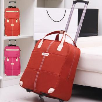 拉杆包旅行包女行李袋手提大容量短途小型拉杆旅游包出差登机包邮