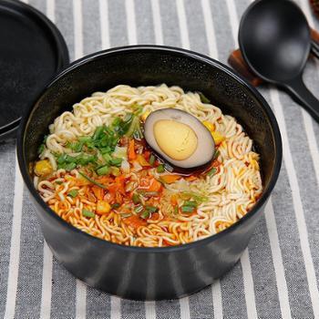 泡面碗带盖大号学生碗汤碗日式餐具创意饭盒方便面碗筷套装泡面杯