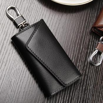 真皮钥匙包男简约女式大容量锁匙包男士多功能腰挂牛皮钥匙包实用