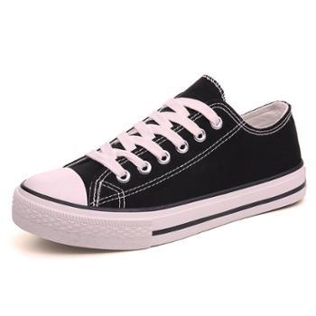 淑客夏季新款帆布鞋女原宿ulzzang小白鞋百搭韩版布鞋学生板鞋子