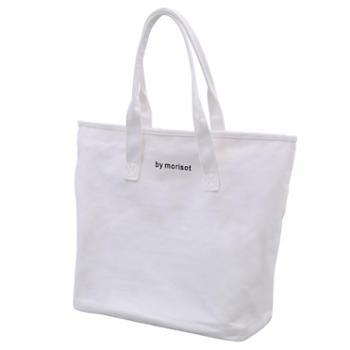 新款韩版简约百搭白色大容量帆布包女单肩休闲文艺手提袋学生