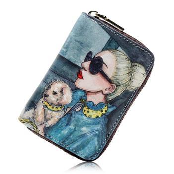 名片包小巧风琴卡包女式证件位卡袋卡片包卡套大容量零钱包一体包