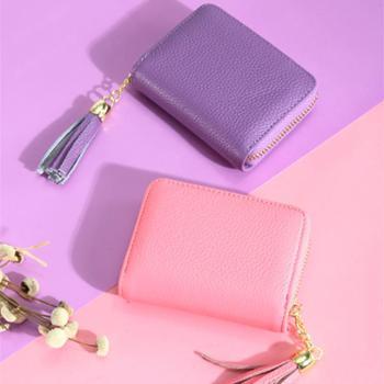 真皮卡包钱包一体包女式超薄大容量证件位小卡片包多卡位简约卡套