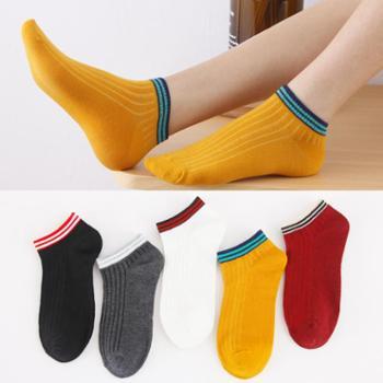 袜子女短袜浅口韩国可爱船袜女纯棉隐形夏季薄款中筒袜韩版学院风