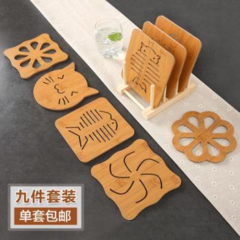 厨房隔热垫餐桌垫欧式家用木质餐垫杯垫耐热防烫碗垫盘子垫菜垫子