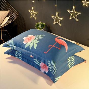 【一对装】网红全棉枕套夏天纯棉成人枕头套单人枕芯套48x74cm包邮