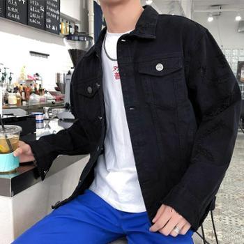 男士春秋季新款外套牛仔夹克学生修身帅气韩版潮流棒球上衣服MF051