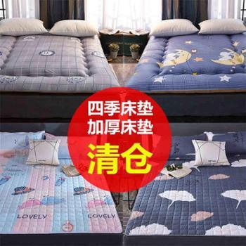 床垫1.8m床褥子榻榻米保护垫子1.5米双人垫被单人折叠防滑学生1.2