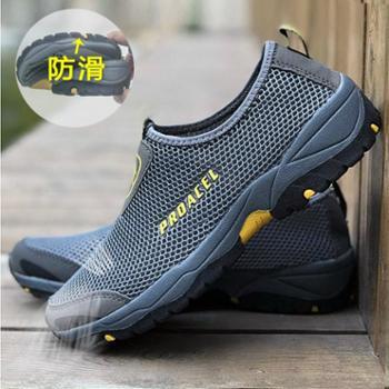 骆驼洲男鞋夏季网鞋男士运动鞋跑步网面鞋透气休闲旅游网布鞋子