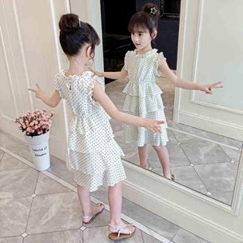 女童连衣裙夏装新款儿童超洋气网红童装公主裙小女孩雪纺裙子