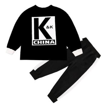 男童春秋运动套装新款儿童洋气KK战队服两件套