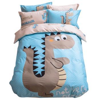全棉床上用品四件套纯棉卡通床单学生学校套件被套