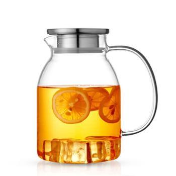 琦厂家直销高硼硅耐热玻璃冷水壶加2杯子