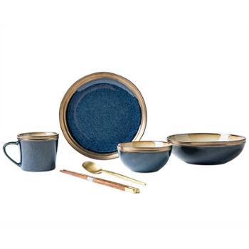陶润会 肆象一人食陶瓷餐具套装新中式单人家用精致轻奢礼盒送礼
