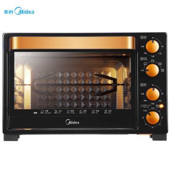 Midea/美的T3-L326B家用烘焙多功能独立控温电烤箱32L烤叉烧烤