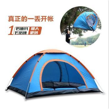 自由骆驼帐篷户外双人3-4人全自动帐篷
