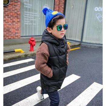 米克狸童装2016冬装新款男童马甲韩版儿童加厚保暖中长款夹棉背心