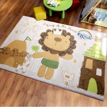可爱卡通地垫狮子地毯卧室客厅茶几宝宝儿童房爬行垫可机洗床边毯