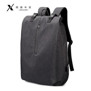 双肩包男士简约大容量休闲旅行电脑潮牌背包时尚潮流韩版学生书包