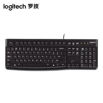 罗技K120有线薄膜键盘笔记本台式电脑办公家用游戏USB通用防水舒适耐用MK120有线键鼠套装 加罗技桌垫