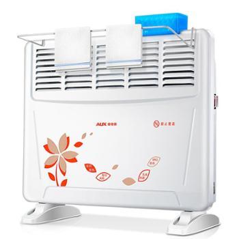【宝鸡正昊贸易】奥克斯取暖器对流式暖风机家用电暖器浴室防水壁挂电暖气居浴两用 桔色印花(五窗)