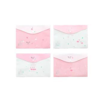 a4文件袋透明可爱韩国小清新按扣小学生用防水12个装