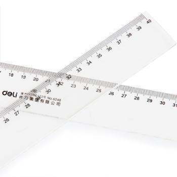 得力有机透明直尺 6230塑料直尺子