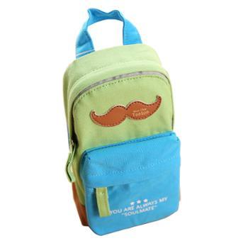 得力笔袋大容量小学生初中生蓝色
