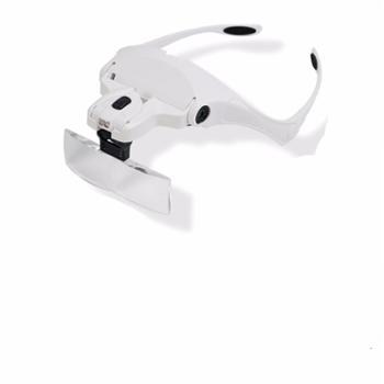 拜斯特头戴式放大镜led带灯便携式眼镜型放大镜