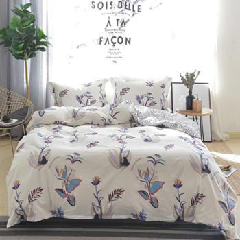 新款床上用品纯棉40s面料床单被套四件套正品包邮