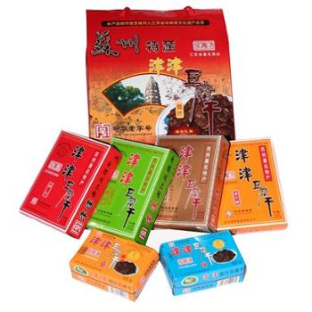 津津卤汁豆腐干苏州特产年货礼盒零食小吃900g