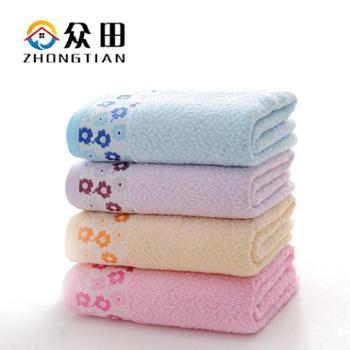 众田 竹纤维毛巾洁面柔软吸水面巾【1条装】