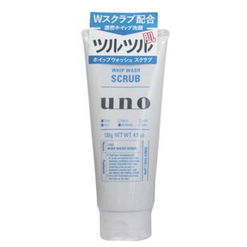 资生堂Uno男士净爽磨砂洗面奶130g(蓝色)有新旧包装