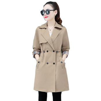 百旅Bailv风衣女中长款时尚气质小西装修身女装潮春季流行外套