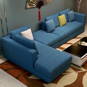 善融爱家节梦尚佳现代简约布艺沙发全拆洗客厅时尚大小户型创意多人沙发组合