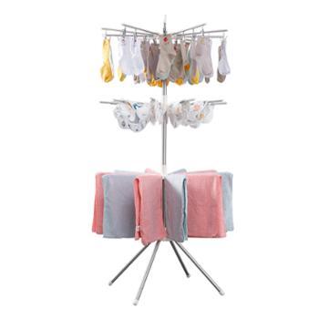 溢彩年华落地阳台多功能折叠不锈钢婴儿晾衣架