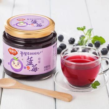 福事多蜂蜜蓝莓茶500g/瓶韩式蜜炼酱水果茶冲饮品