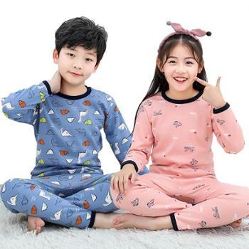 儿童保暖加绒内衣套装男童女童秋冬中小童打底童装宝宝家居服果A1701