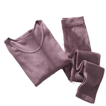冬季无缝美体保暖内衣女套装薄款螺纹修身女士秋衣秋裤