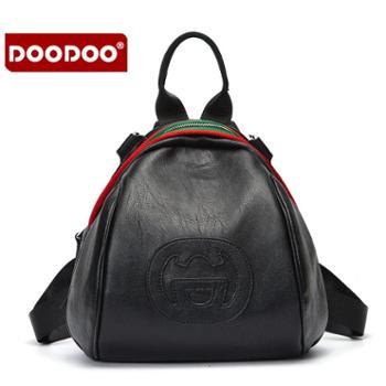 doodoo女士双肩背包新款潮韩版百搭旅行包时尚双肩小包包女包