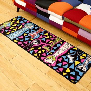 华德地毯地垫厨房毯飘窗毯客厅茶几个性猫咪厨房卧室床边飘窗长条形防滑吸水地毯