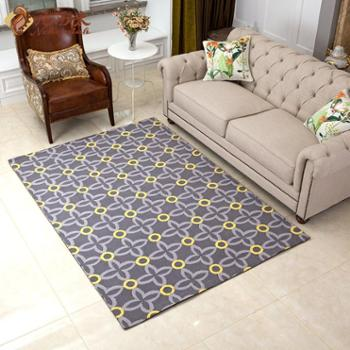 尼西米 现代美式客厅地毯 几何图案地毯 卧室地毯 沙发地毯茶几垫1.6*2.3m