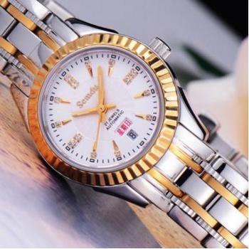 绅度专柜正品女表 全自动机械表 防水钢带时尚情侣手表